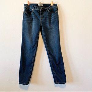 Free People Dark Blue Denim Cropped Skinny Jeans